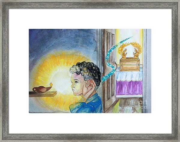 Samuel Hears The Lord Framed Print