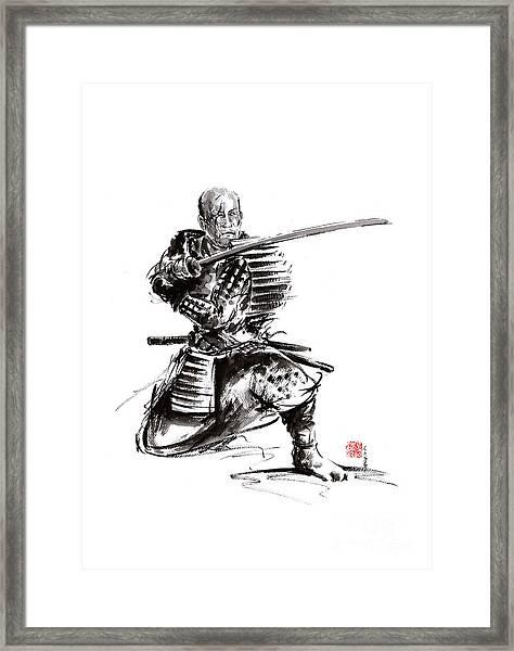 Samurai Art Print  Samurai Sword  Japan Poster  Japan Photography Japan Style Japan Wall Decor  Samu Framed Print