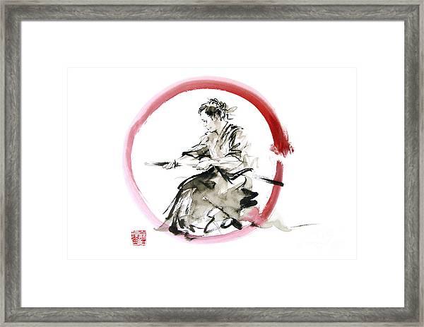 Samurai Enso Bushido Way. Framed Print