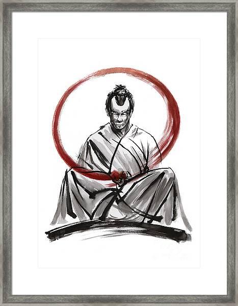Samurai Enso. Framed Print