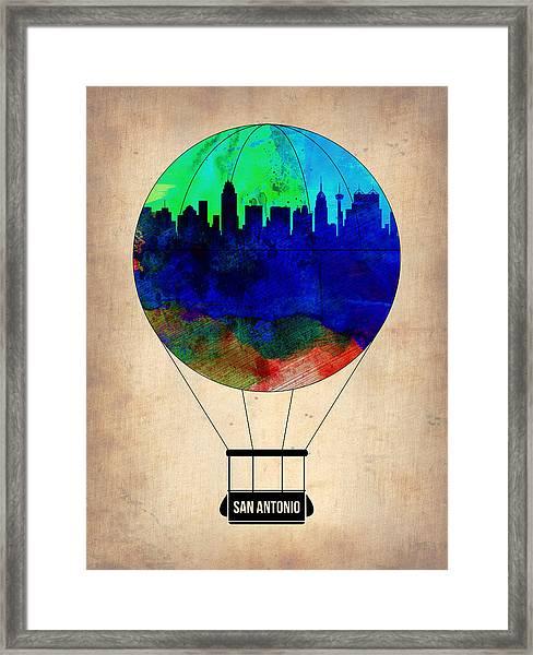 11f02e4f4 San Antonio Air Balloon Framed Print