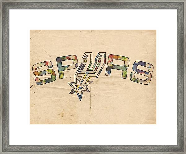 San Antonio Spurs Retro Poster Framed Print