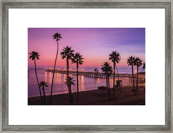 San Clemente Sunset Meditation Framed Print