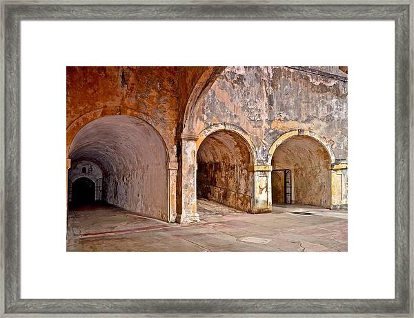 San Cristobal Fort Tunnels Framed Print