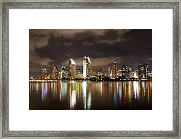 San Diego Skyline 1 Framed Print