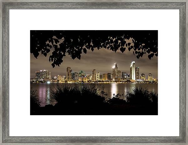San Diego Skyline Framed 2 Framed Print