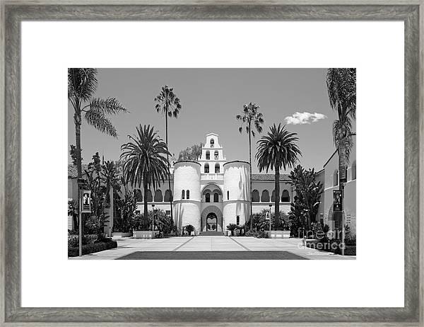 San Diego State University - Hepner Hall Framed Print by University Icons