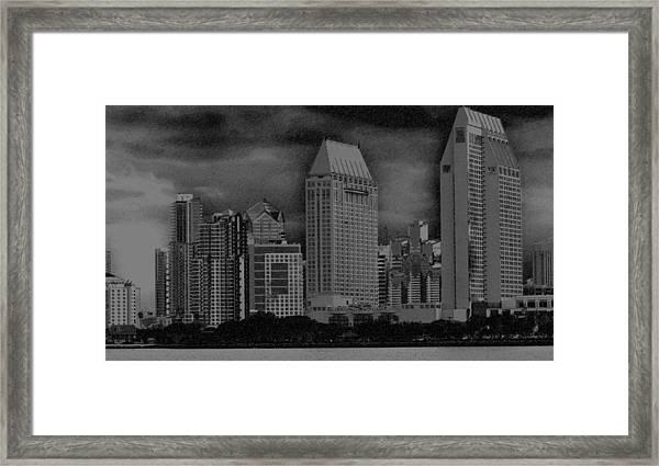 San Diego Storm Framed Print