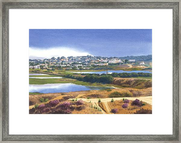 San Elijo And Manchester Ave Framed Print by Mary Helmreich