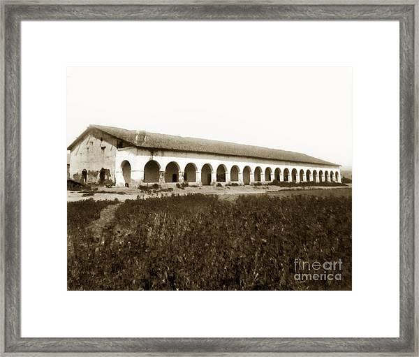 San Fernando Mission Circa 1900 Framed Print