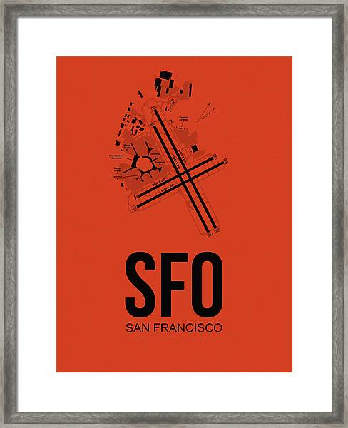 San Francisco Airport Poster 2 Framed Print