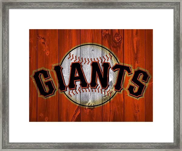 San Francisco Giants Barn Door Framed Print