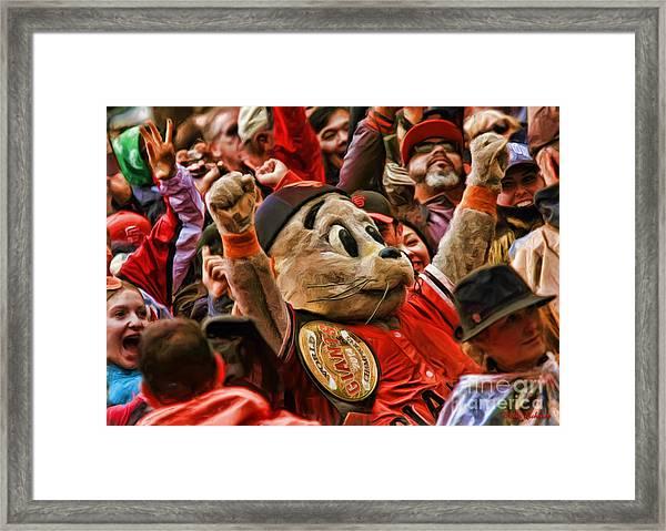 San Francisco Giants Mascot Lou Seal Framed Print