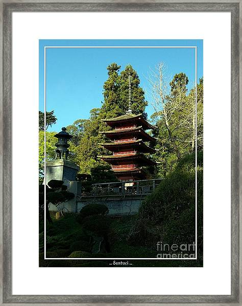 San Francisco Golden Gate Park Japanese Tea Garden 8 Framed Print