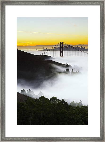 San Francisco Morning Fog Framed Print
