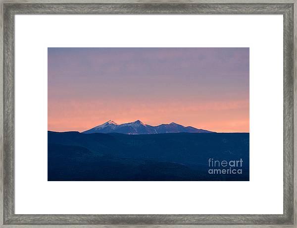 San Francisco Peaks At Sunrise Framed Print
