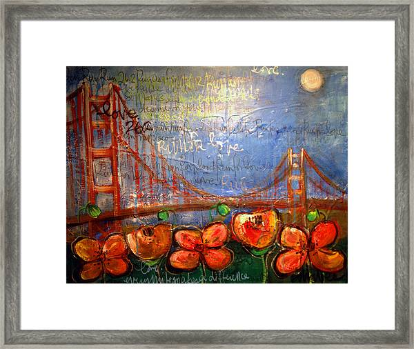 Framed Print featuring the painting San Francisco Poppies For Lls by Laurie Maves ART