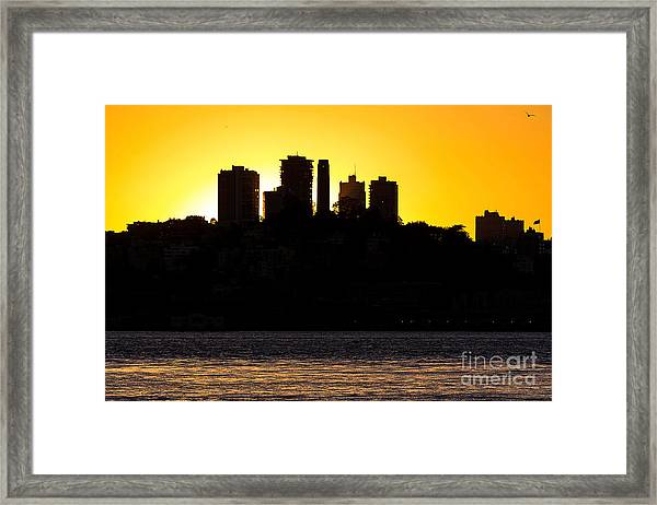 San Francisco Silhouette Framed Print
