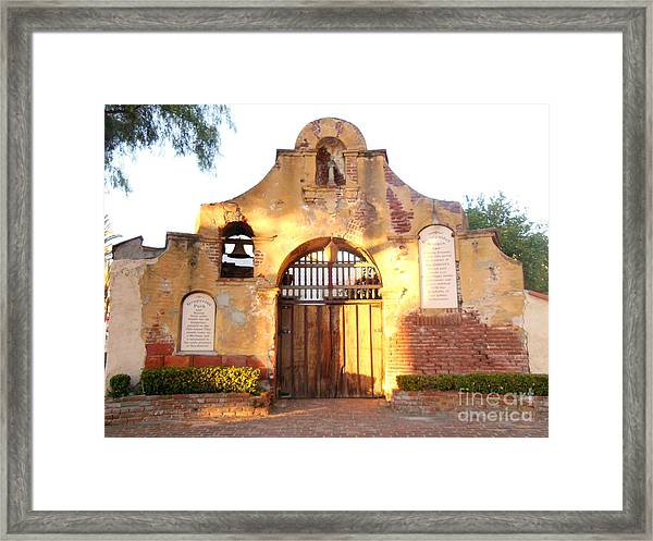 San Gabriel Mission Framed Print by Eclectic Captures
