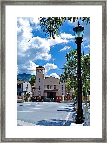 San Joaquin Catholic Church Framed Print