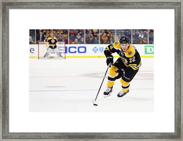 San Jose Sharks V Boston Bruins Framed Print by Maddie Meyer