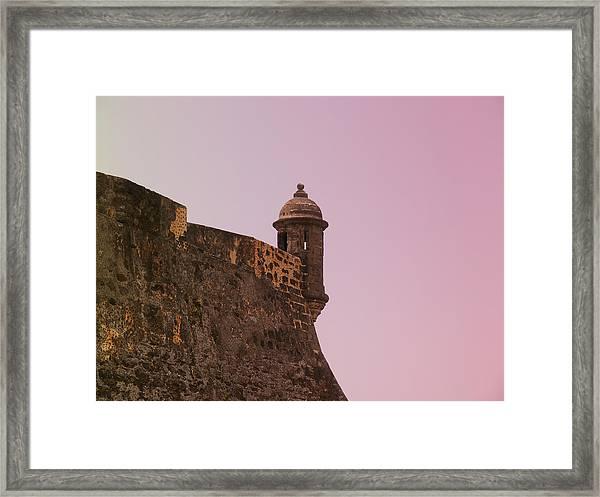 San Juan - City Lookout Post Framed Print