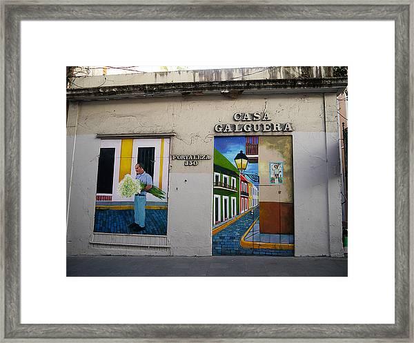 San Juan - Casa Galguera Mural Framed Print