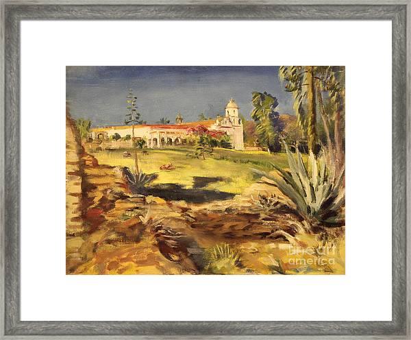 San Luis Rey Mission 1947 Framed Print