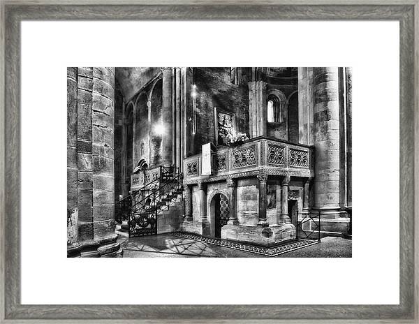 San Michele Toward The Altar Framed Print