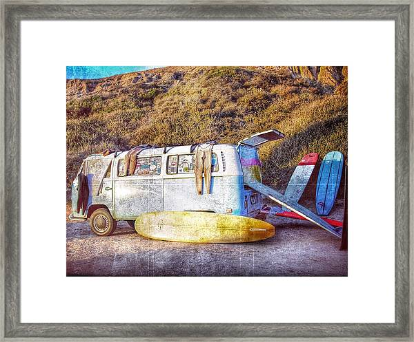 The Surfing Life Framed Print