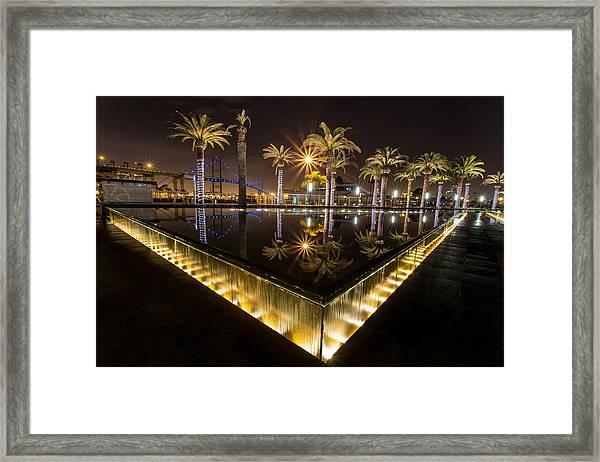 San Pedro Fountains Framed Print