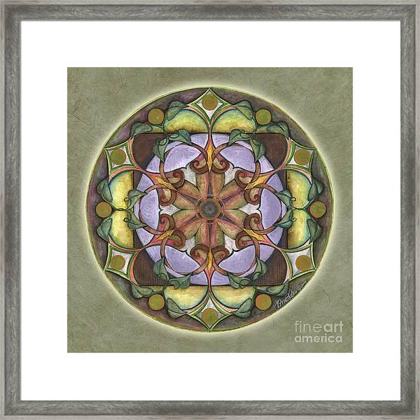 Sanctuary Mandala Framed Print