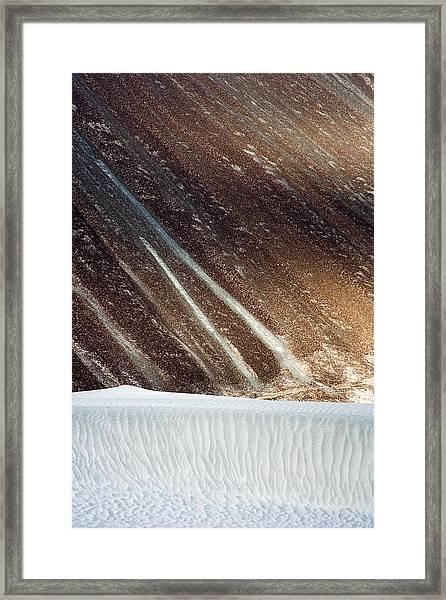 Sand Abstract, Hunder, 2006 Framed Print