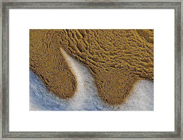 Sand Abstract Framed Print