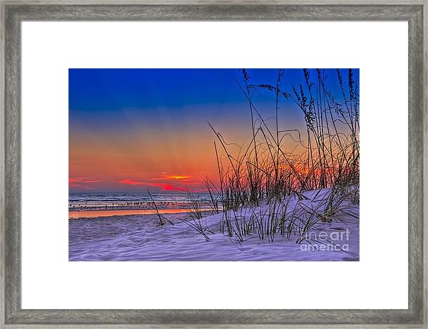 Sand And Sea Framed Print