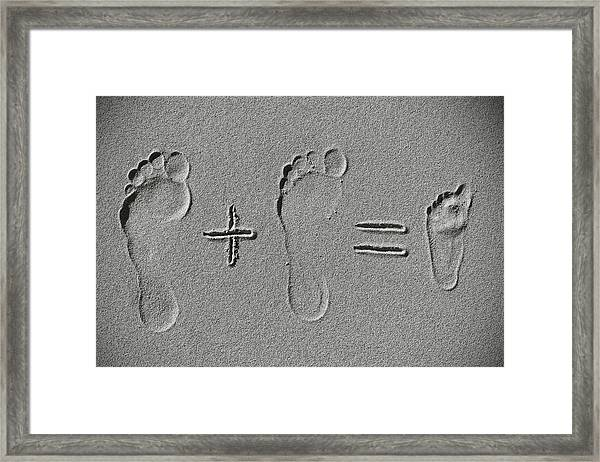 Sand Arithmetic Framed Print by
