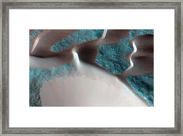 Sand Avalanches On Mars Framed Print