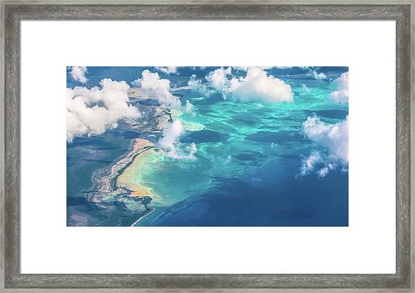 Sand Beach Meets Ocean Framed Print