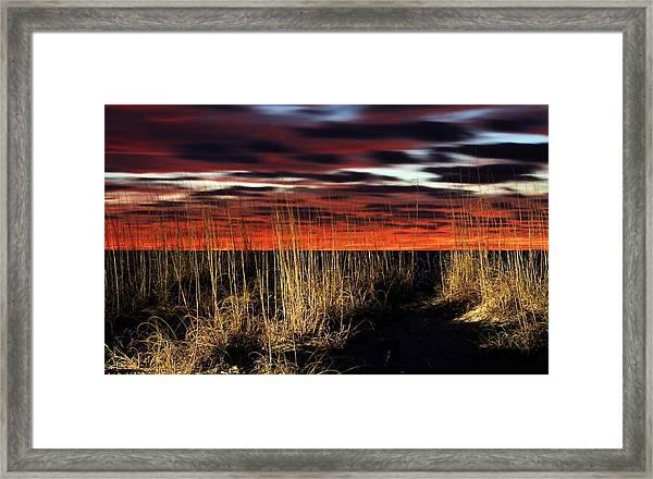 Sand Dune Sunrise Framed Print