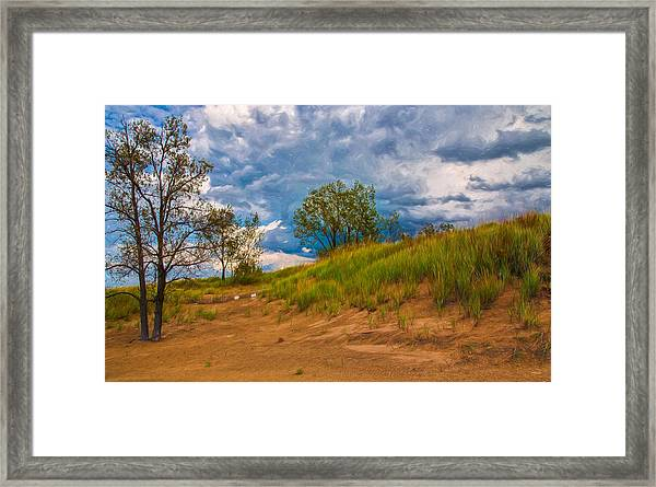 Sand Dunes At Indian Dunes National Lakeshore Framed Print