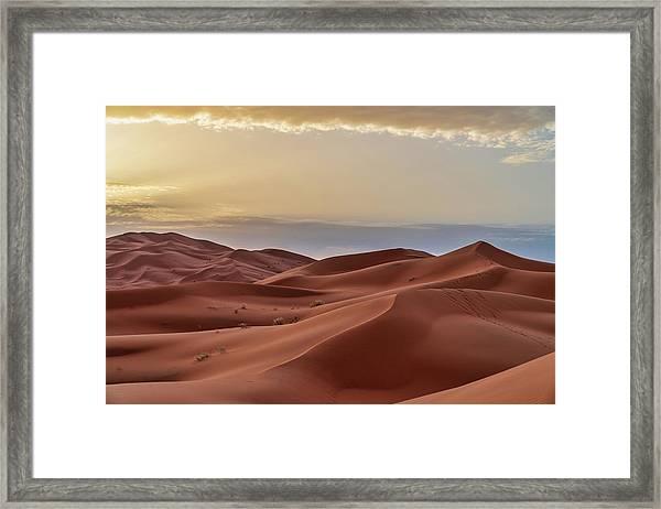 Sand Dunes In The Sahara Desert - Framed Print