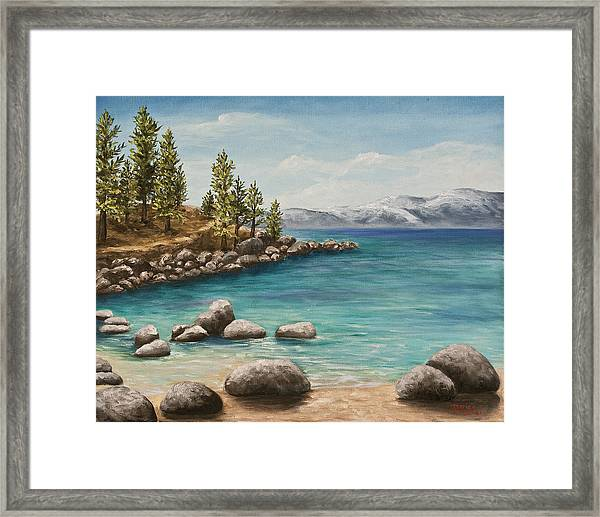 Sand Harbor Lake Tahoe Framed Print