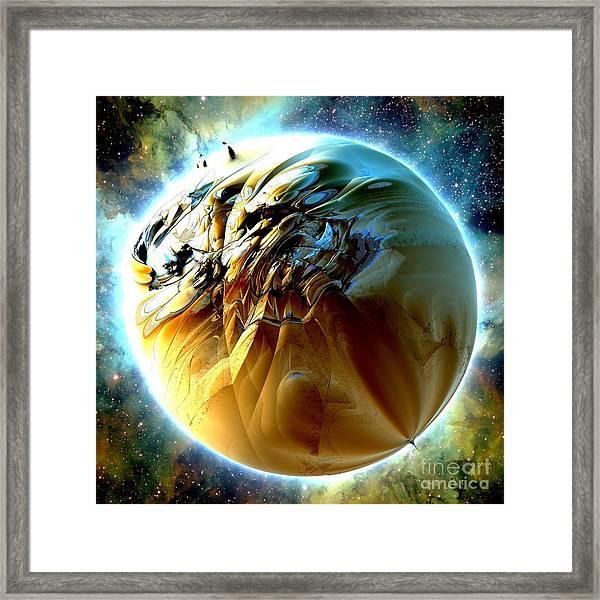 Sand Planet Framed Print by Bernard MICHEL