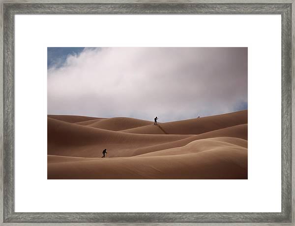 Sand Skiing Framed Print