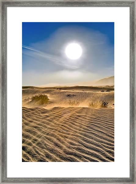 Sand Storm In The Mesquite Dunes 2 Framed Print