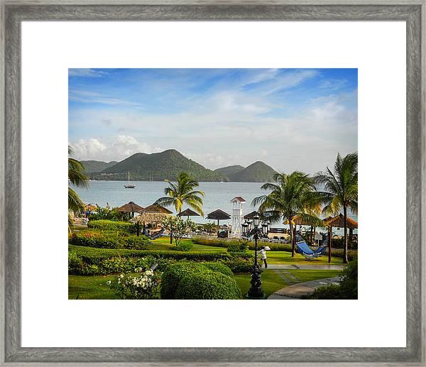 Sandals St. Lucia Framed Print