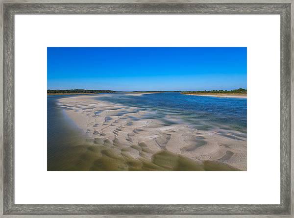 Sandbars On The Fort George River Framed Print