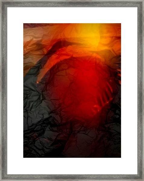 Sandhill Crane Dance 2 Framed Print