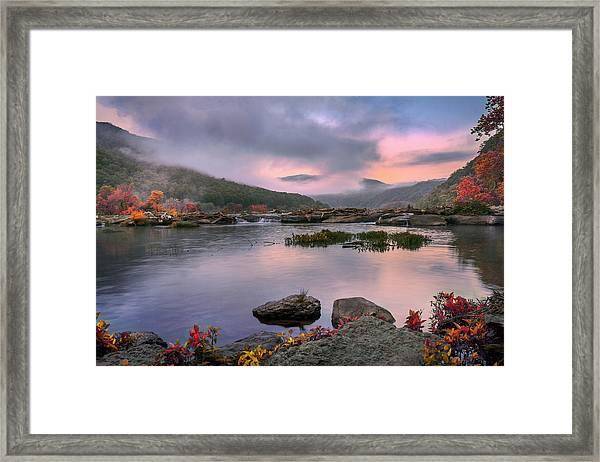 Sandstone Falls At Dawn Framed Print