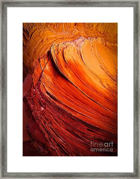 Sandstone Flakes Framed Print